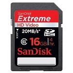 SanDisk 16GB Extreme HD Video SDHC Class 6 Card
