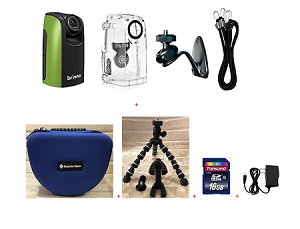 Brinno Construction Time Lapse Camera Bundle BCC100 + Smartec Camera Bag + Smartec Flexible Tripod + 16GB SD + Wall Power Supply