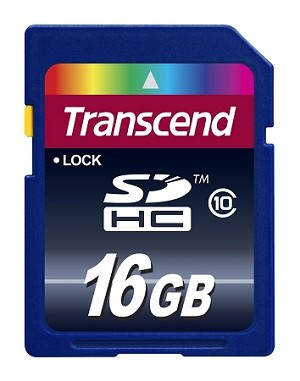 Transcend 16GB HD Video SDHC Class 10