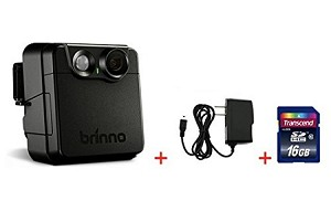 Brinno MAC200DN Portable Motion Activated Wireless Outdoor Security Camera + 16GB + Wall Power Supply