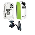 Brinno Time Lapse Camera TLC200 Green + ATH110 Weather Resistant Housing Case + AWM100 Wall Mount